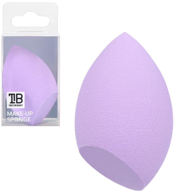 Hubka na make-up, fialová - Tools For Beauty Olive Cut Makeup Sponge Purple — Obrázky N1