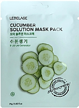 Voňavky, Parfémy, kozmetika Textilná maska na tvár s uhorkou - Lebelage Cucumber Solution Mask