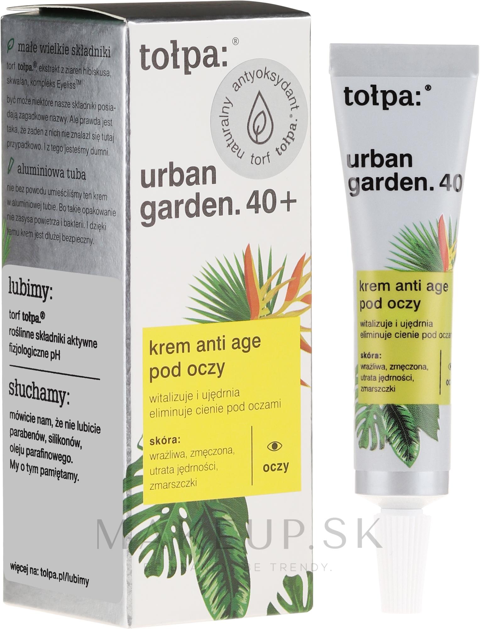 Krém pod oči - Tolpa Urban Garden 40+ Anti-Age Eye Cream — Obrázky 10 ml