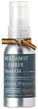Voňavky, Parfémy, kozmetika Bath House Bergamot & Amber - Olej na holenie
