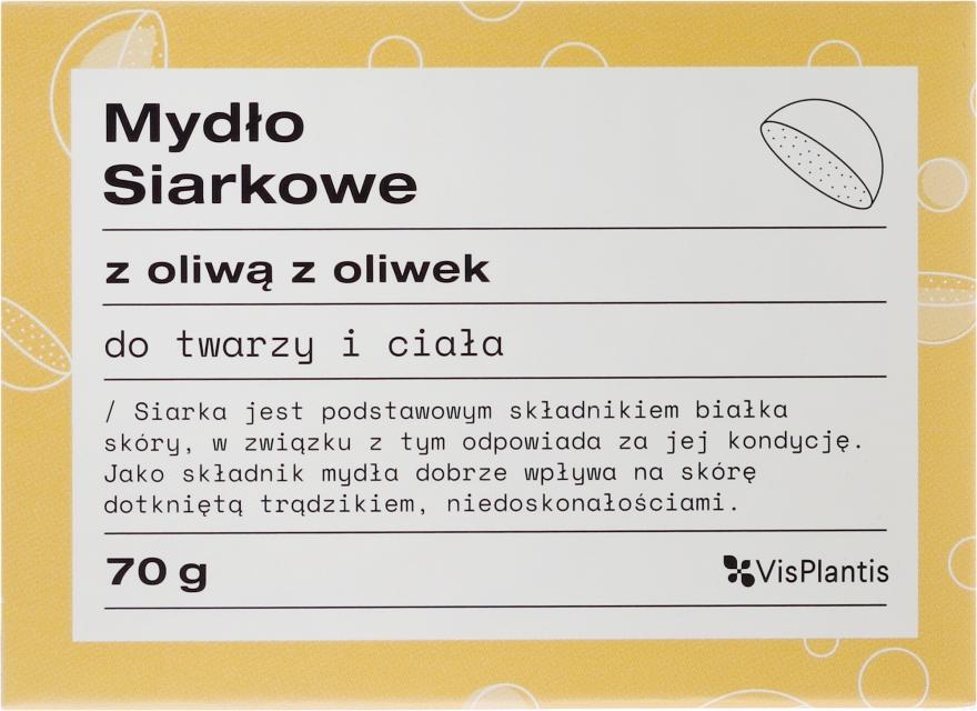 Mydlo na problémovú pleť - Vis Plantis Soaps Sulphur Soap With Olive Oil For Face And Body Problem Skin