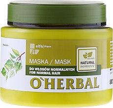 Voňavky, Parfémy, kozmetika Maska pre normálne vlasy s brezovým extraktom - O'Herbal