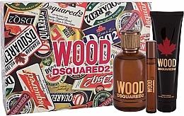 Voňavky, Parfémy, kozmetika Dsquared2 Wood Pour Homme - Sada (edt/100ml + edt/10ml + sh/gel/150ml)