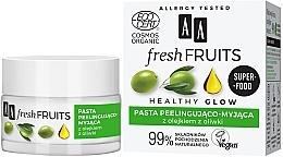 Voňavky, Parfémy, kozmetika Peelingová pasta na tvár s olivovým olejom - AA Fresh Fruits Healthy Glow