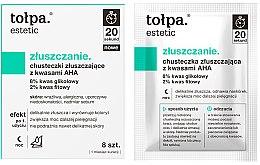 Voňavky, Parfémy, kozmetika Exfoliačné obrúsky s AHA kyselinami - Tolpa Estetic Exfoliating Wipe