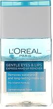 Voňavky, Parfémy, kozmetika Prostriedok pre odstránenie vodeodolného make-upu s očí a pier - L'Oreal Paris Gentle Eyes&Lips Express Make-Up Remover Waterproof