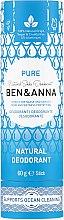 """Voňavky, Parfémy, kozmetika Dezodorant na základe sódy """"Čistota"""" (kartón) - Ben & Anna Pure Natural Soda Deodorant Paper Tube"""