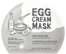 Voňavky, Parfémy, kozmetika Vajcová maska Hlboká hydratácia - Too Cool For School Egg Cream Mask Deep Moisture