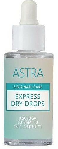 Kvapky na rýchle schnutie laku - Astra Make-up Sos Nails Care Express Dry Drops