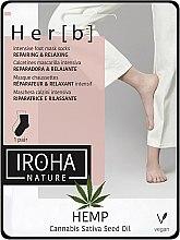 Voňavky, Parfémy, kozmetika Maska na nohy - Iroha Nature HEMP Cannabis Foot Mask