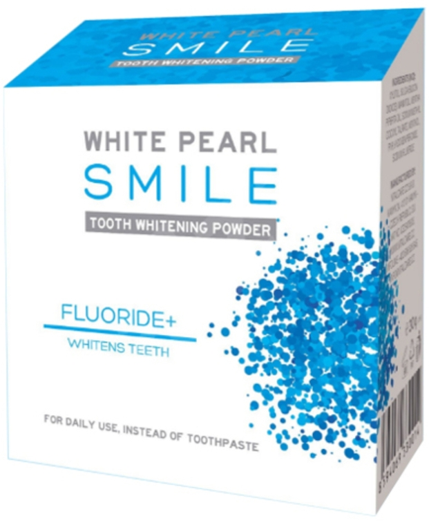 Bieliacy prášok pre zuby - VitalCare White Pearl Smile Tooth Whitening Powder Fluor+ — Obrázky N1