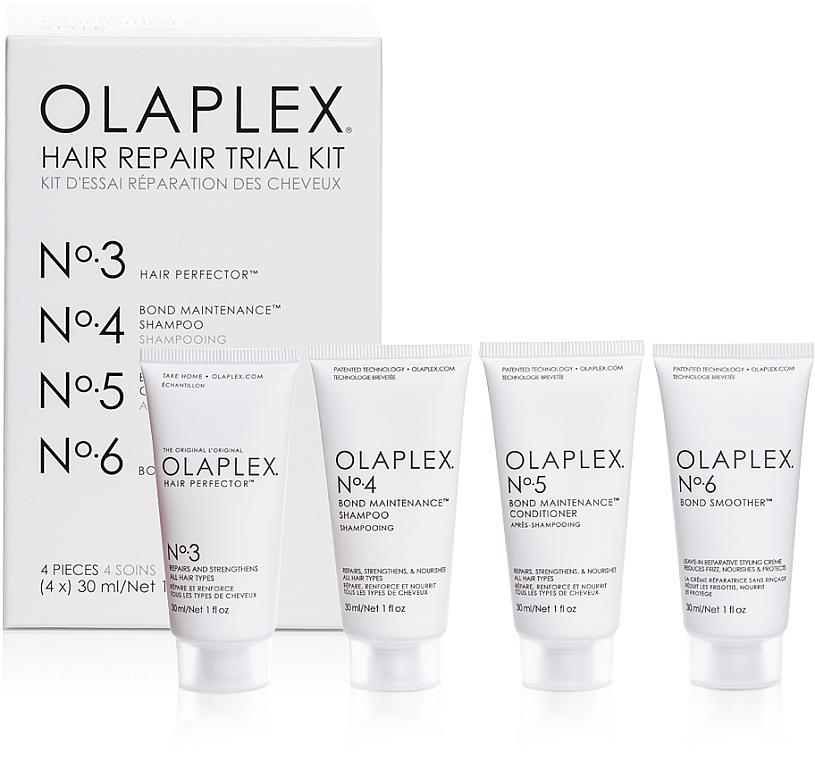 Sada na regeneráciu vlasov - Olaplex Hair Repair Trial Kit (shm/30ml + con/30ml + elixir/30ml + h/cr/30ml)