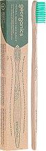 Voňavky, Parfémy, kozmetika Bambusová zubná kefka - Georganics Bamboo Medium Toothbrush Green