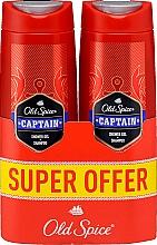 Voňavky, Parfémy, kozmetika Šampón a sprchový gél 2v1 - Old Spice Captain Shower Gel + Shampoo