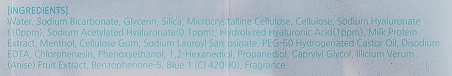 Peeling na tvár s kyselinou hyalurónovou - Mizon Hyaluronic Sherbet Peeling Scrub — Obrázky N4