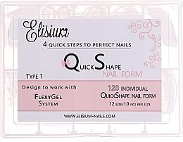"""Voňavky, Parfémy, kozmetika Viacpoužiteľné formy na predlžovanie nechtov, tipy """"Type 1"""" - Elisium"""