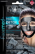 Voňavky, Parfémy, kozmetika Čistiaca-matná uhlíková maska - Eveline Cosmetics Facemed+ Matt Detox Mask