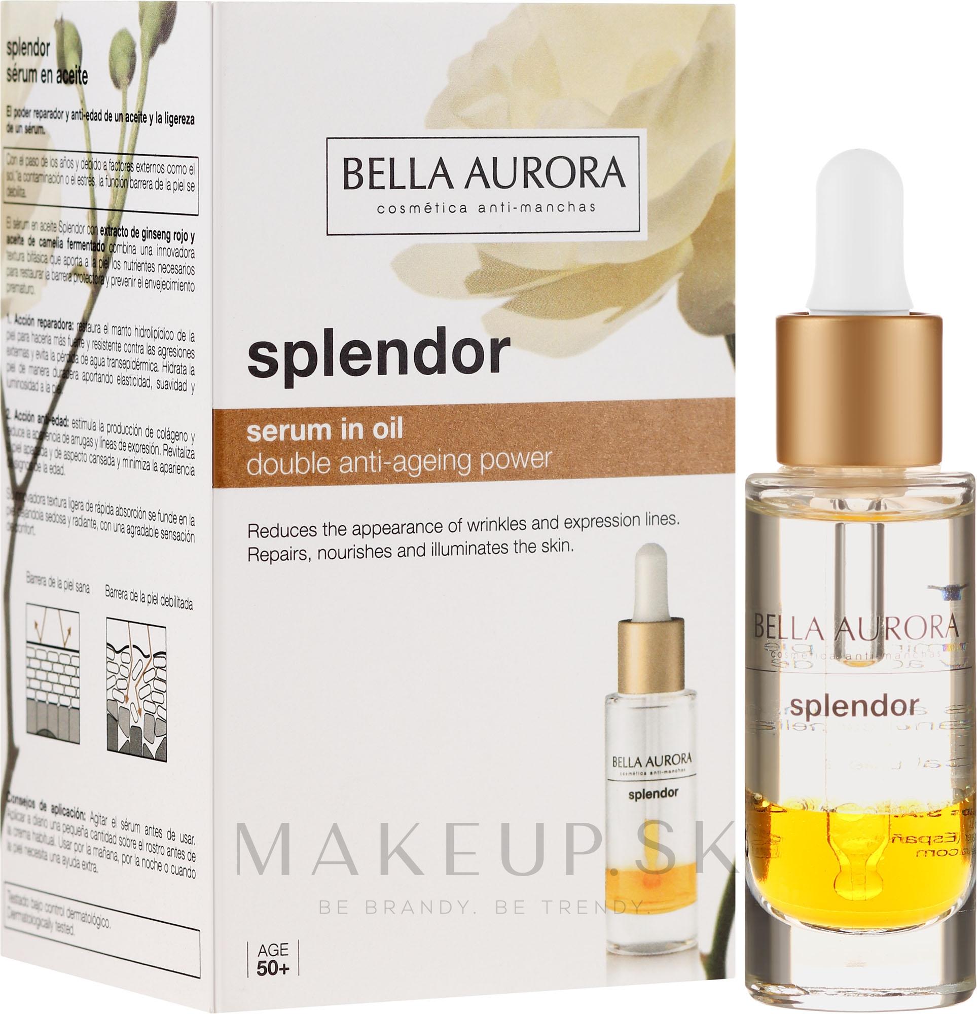 Regeneračné sérum na tvár - Bella Aurora Splendor 10 Serum — Obrázky 20 ml