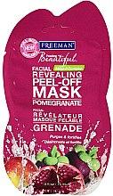 Voňavky, Parfémy, kozmetika Zlupovacia maska na tvár Granátové jablko - Freeman Feeling Beautiful Peeling Facial Mask with Pomegranate (mini)