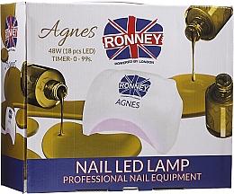 Voňavky, Parfémy, kozmetika LED lampa na nechty, čierna - Ronney Profesional Agnes Pro LED 48W (GY-LED-032)