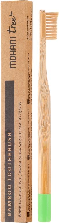 Zubná kefka bambusová, mäkká, zelená - Mohani Toothbrush — Obrázky N1