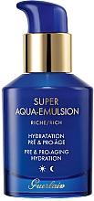 Voňavky, Parfémy, kozmetika Bohatá hydratačná emulzia pre zrelú pleť a proti predčasnému starnutiu - Guerlain Super Aqua Rich Emulsion