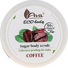 """Voňavky, Parfémy, kozmetika Telový peeling """"Káva"""" - Ava Laboratorium Eco Body Natural Sugar Scrub Coffee"""