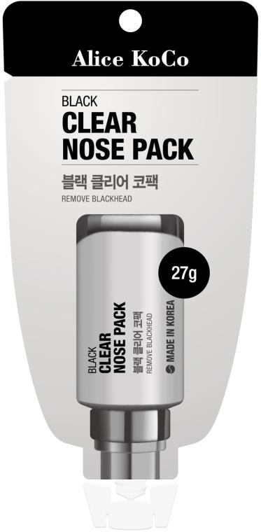 Čierna maska na tvár - Alice Koco Black Clear Nose Pack — Obrázky N1
