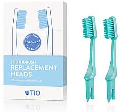 Voňavky, Parfémy, kozmetika Náhradná hlavica do zubnej kefky, stredne tvrdá štetina, tyrkysová - TIO Toothbrush Medium