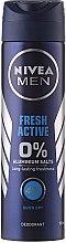 """Voňavky, Parfémy, kozmetika Dezodorant v spreji """"Náboj sviežosti"""" pre mužov - Nivea Fresh"""