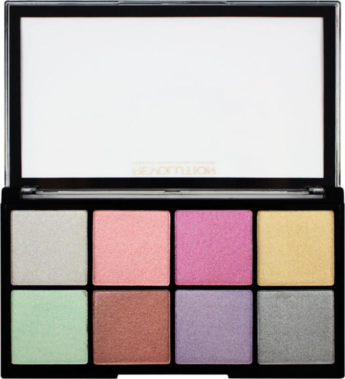 Paleta rozjasňovačov na tvár - Makeup Revolution Ultra Cool Glow — Obrázky N2