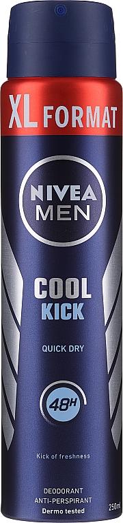 Dezodoračný sprej - Nivea Men Cool Kick Deo Spray