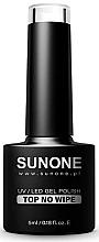 Voňavky, Parfémy, kozmetika Vrchný lak bez lepivej vrstvy - Sunone UV/LED Gel Polish Top No Wipe