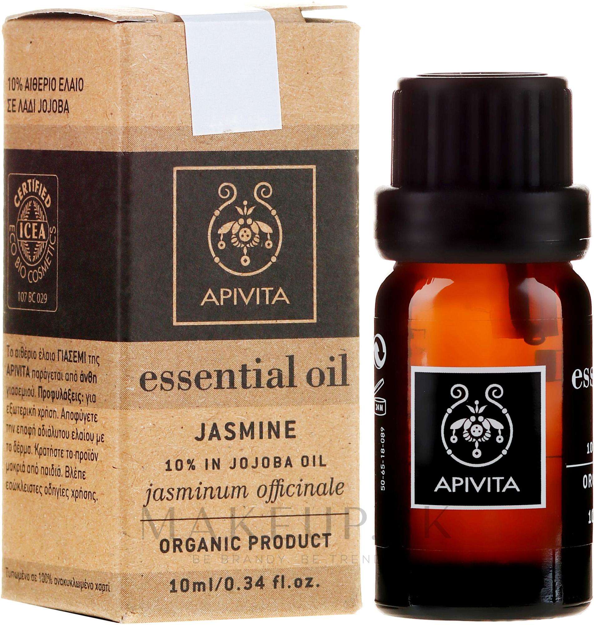 "Esenciálny olej ""Jasmín"" - Apivita Aromatherapy Organic Jasmine Oil — Obrázky 10 ml"