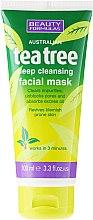 """Voňavky, Parfémy, kozmetika Maska hlbokého čistenia pre osobu """"Čajové drevo"""" - Beauty Formulas Tea Tree Deep Cleansing Facial Mask"""