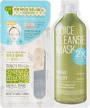 """Voňavky, Parfémy, kozmetika Dvojfázová tvárová maska """"Pšenica a zeler"""" - Ariul Juice Cleanse 2X Plus Mask Pack Wheat & Celery"""