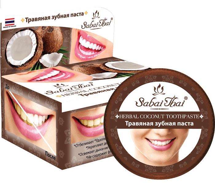 Zubná pasta s kokosom - Sabai Thai Herbal Coconut Toothpaste
