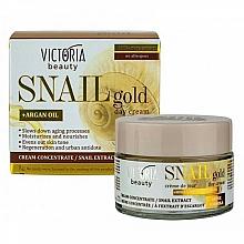 Voňavky, Parfémy, kozmetika Denný krém s extraktom zo slimáka - Victoria Beauty Snail Gold Argan Oil Day Cream