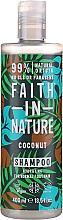 """Voňavky, Parfémy, kozmetika Šampón pre normálne a suché vlasy """"Kokos"""" - Faith In Nature Coconut Shampoo"""