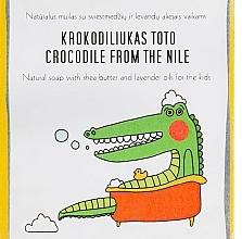 Voňavky, Parfémy, kozmetika Mydlo s bambuckým maslom a levanduľovým olejom pre deti - Uoga Uoga Crocodile From The Nile Natural Soap