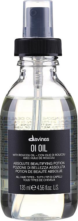 "Olej na vlasy ""Absolútna ozdoba"" - Davines Oi Absolute Beautifying Potion With Roucou Oil"