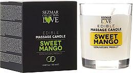 """Voňavky, Parfémy, kozmetika Prírodná sviečka na masáž """"Mango"""" - Sezmar Collection"""
