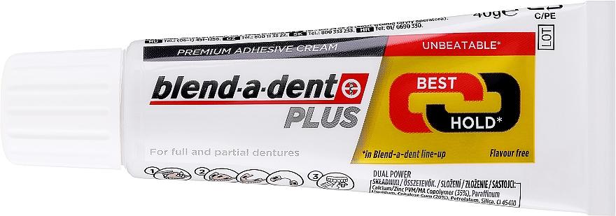 Fixačný krém na zubnú protézu - Blend-A-Dent Premium Adhesive Cream Plus Dual Power Light Mint — Obrázky N2
