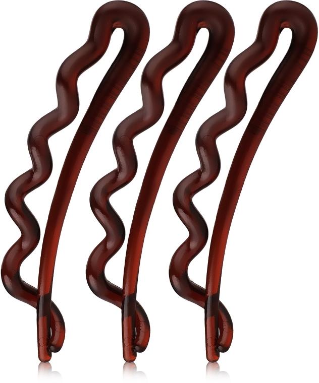 Sponky do vlasov, hnedé - Invisibobble Waver Pretty Dark