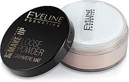 Matný sýpky púder - Eveline Cosmetics Loose Powder Cashmere Mat — Obrázky N2