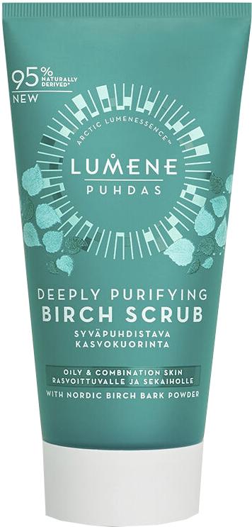 Hlboká čistiaci brezový scrub na tvár - Lumene Puhdas Deeply Purifying Birch Scrub