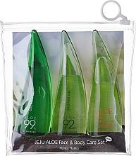 Voňavky, Parfémy, kozmetika Sada - Holika Holika Aloe Face And Body Care Set (foam/55ml + gel/55ml + sh/gel/55ml)