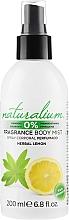 Voňavky, Parfémy, kozmetika Sprej na telo - Naturalium Herbal Lemon Body Mist