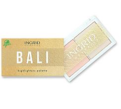 Voňavky, Parfémy, kozmetika Paleta rozjasňovačov na tvár - Ingrid Cosmetics Bali Highlighters Palette