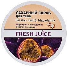 """Voňavky, Parfémy, kozmetika Cukrový telový scrub """"Macaruja a makadámia"""" - Fresh Juice Passion Fruit & Macadamia"""